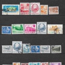 Sellos: RUMANIA LOTE 28 SELLOS USADOS X 0.03 - 4/46. Lote 160499870