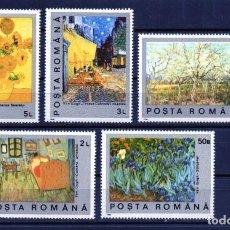 Francobolli: ++ RUMANIA / ROMANIA / ROEMENIE AÑO 1991 YVERT NR. 3916/20 NUEVA CUADROS. Lote 160590934