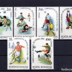 Francobolli: ++ RUMANIA / ROMANIA / ROEMENIE AÑO 1981 YVERT NR. 3363/68 NUEVA FUTBOL. Lote 161291522