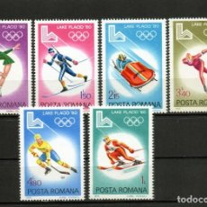 Francobolli: ++ RUMANIA / ROMANIA / ROEMENIE AÑO 1980 YVERT NR. 3241/46 NUEVA J.O. LAKE PLACID. Lote 162365934