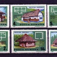Timbres: ++ RUMANIA / ROMANIA / ROUMANIE AÑO 1989 YVERT NR. 3827/32 NUEVA ARQUITECTURA. Lote 163582702