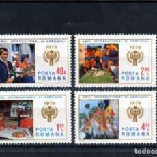 Timbres: ++ RUMANIA / ROMANIA / ROUMANIE AÑO 1979 YVERT NR. 3164/67 NUEVA AÑO INTERNACIONAL DE JUVENTUD. Lote 163605338