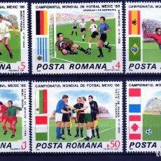 Francobolli: ++ RUMANIA / ROMANIA / ROUMANIE AÑO 1986 YVERT NR. 3671/76 NUEVA FUTBOL. Lote 163606814