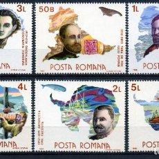 Timbres: ++ RUMANIA / ROMANIA / ROUMANIE AÑO 1986 YVERT NR. 3690/95 NUEVA EXPLORADORES. Lote 163607178