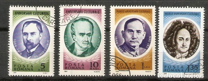 RUMANÍA. 1966. YT Nº 2219,2220,2224,2225. PERSONAJES (Sellos - Extranjero - Europa - Rumanía)
