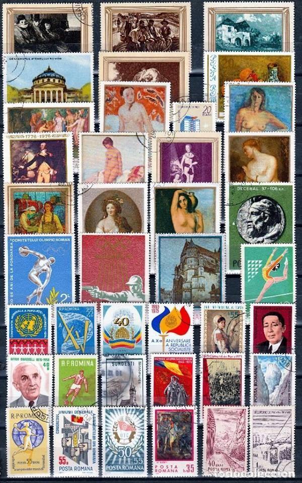 RUMANIA .LOTE 40 SELLOS DIFERENTES . *.MH ( 17-366) (Sellos - Extranjero - Europa - Rumanía)