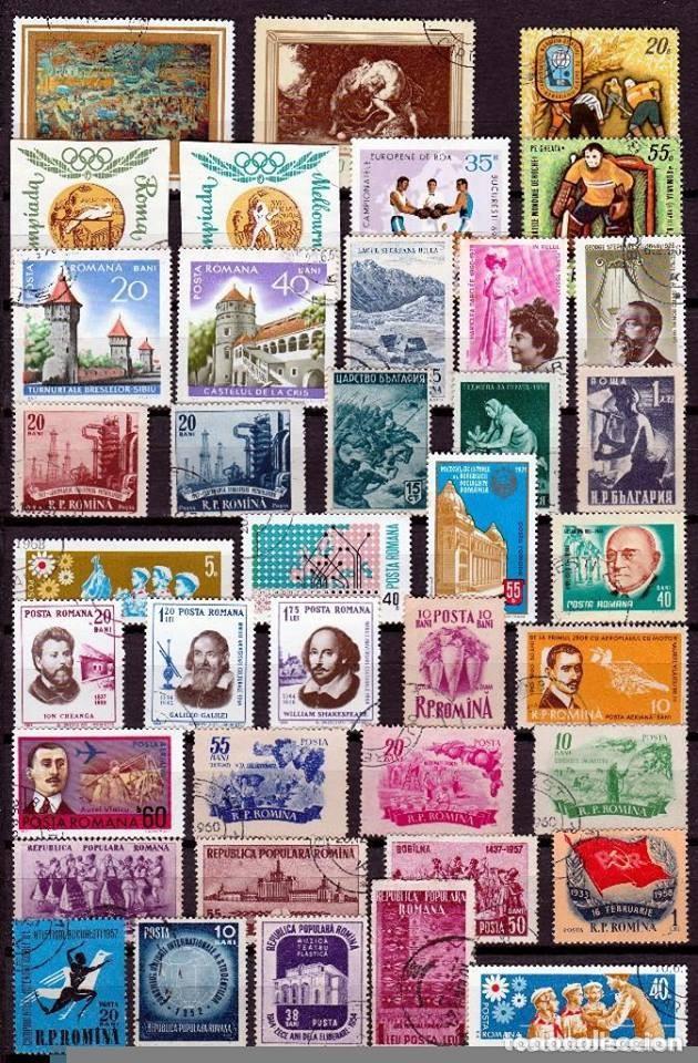 RUMANIA .LOTE 36SELLOS DIFERENTES . *.MH ( 17-365) (Sellos - Extranjero - Europa - Rumanía)