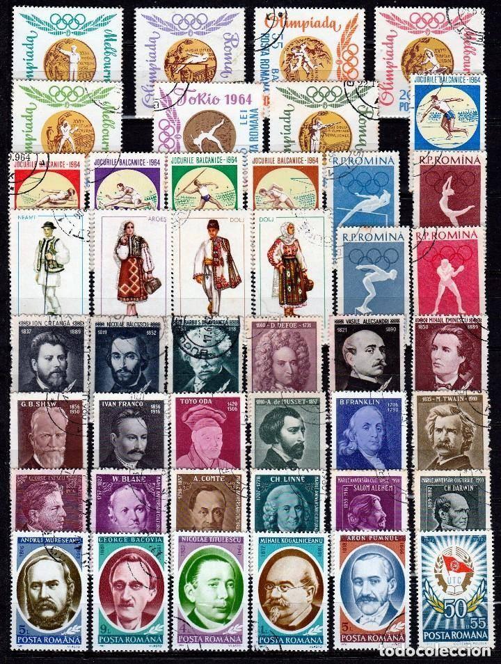 RUMANIA .LOTE 44 SELLOS DIFERENTES . *.MH ( 17-85) (Sellos - Extranjero - Europa - Rumanía)