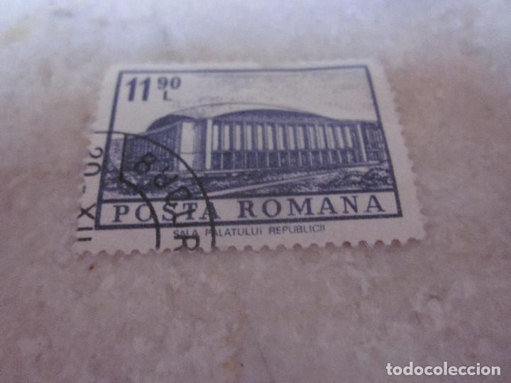 SELLO RUMANIA 11,90 L - SALA PALATULUI REPUBLICH (Sellos - Extranjero - Europa - Rumanía)