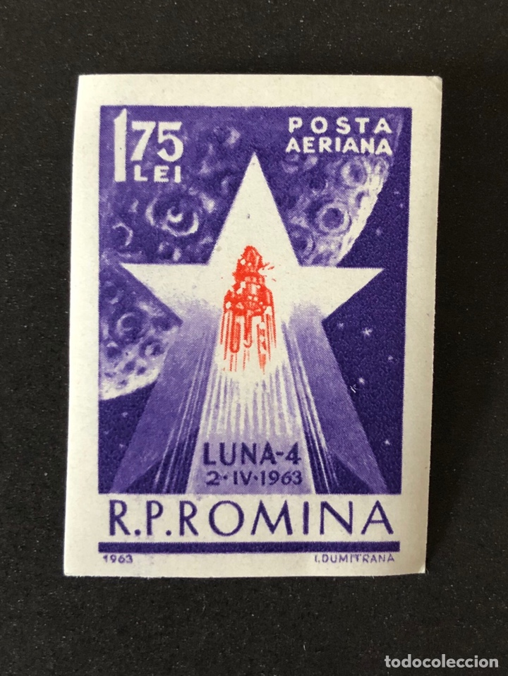 SELLO NUEVO CLÁSICO DE RUMANÍA 1,75 LEI- LUNA-4 1963 (Sellos - Extranjero - Europa - Rumanía)
