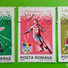 Sellos: ROMÊNIA 1994. JOGOS OLÍMPICOS. USED. Lote 171497357