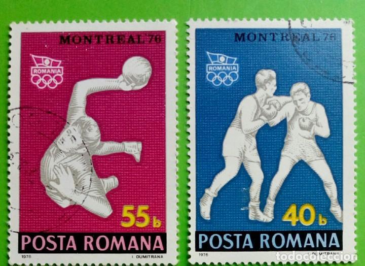RUMANIA 1976- JOGOS OLÍMPICOS. USED (Sellos - Extranjero - Europa - Rumanía)