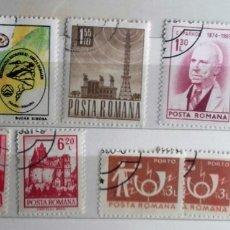 Sellos: RUMANIA , LOTE DE 9 SELLOS USADOS . Lote 172712972