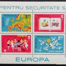 Sellos: 1975. EUROPA. RUMANÍA. HB 121. CONFERENCIA SOBRE COOPERACIÓN EN MATERIA DE SEGURIDAD. NUEVO.. Lote 175346838