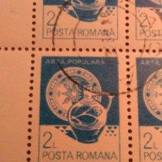Sellos: 50 SELLOS EN 2 HOJAS, RUMANIA,. Lote 177255123