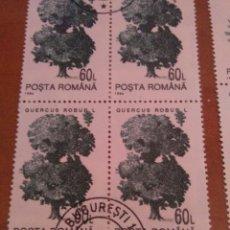Sellos: 70 SELLOS EN HOJAS, 1994, RUMANIA. Lote 177261588