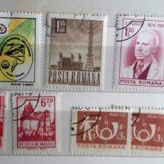 Sellos: RUMANIA , LOTE DE 9 SELLOS USADOS. Lote 181037267