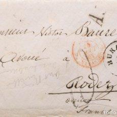 Sellos: RUMANÍA. SOBRE . 1861. BUCAREST A RODEZ (FRANCIA). FECHADOR BUKAREST, MARCA A3 (3 APENAS VISIBLE),. Lote 183150687