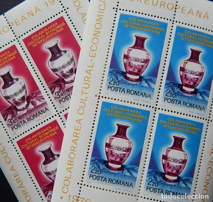 2 HB RUMANÍA - CERÁMICA / 1976 INTEREUROPEANA COLABORAREA CULTURAL-ECONOMICA - POSTA ROMANA (Sellos - Extranjero - Europa - Rumanía)