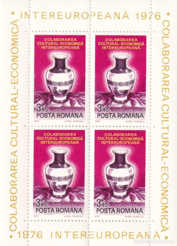 Sellos: 2 HB Rumanía - Cerámica / 1976 Intereuropeana Colaborarea Cultural-Economica - Posta Romana - Foto 4 - 183778823