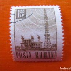 Sellos: -RUMANIA 1971, TELEVISION, YVERT 2636. Lote 189550215
