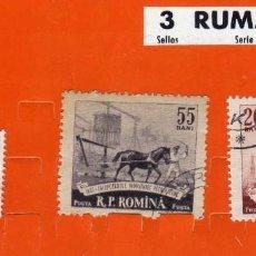 Sellos: LOTE DE 3 SELLOS USADOS, 2 RUMANIA 1 IRLANDA. Lote 189958853