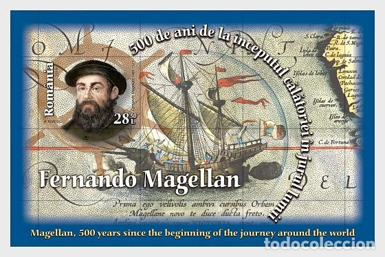 ROMANIA 2019 - MAGALLANES, THE BEGINNING OF THE JOURNEY AROUND THE WORLD MINIATURE SHEET MNH (Sellos - Extranjero - Europa - Rumanía)