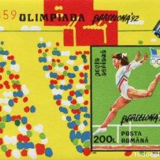 Sellos: RUMANIA 1992 HB IVERT 223 *** JUEGOS OLIMPICOS DE BARCELONA - DEPORTES. Lote 193091396