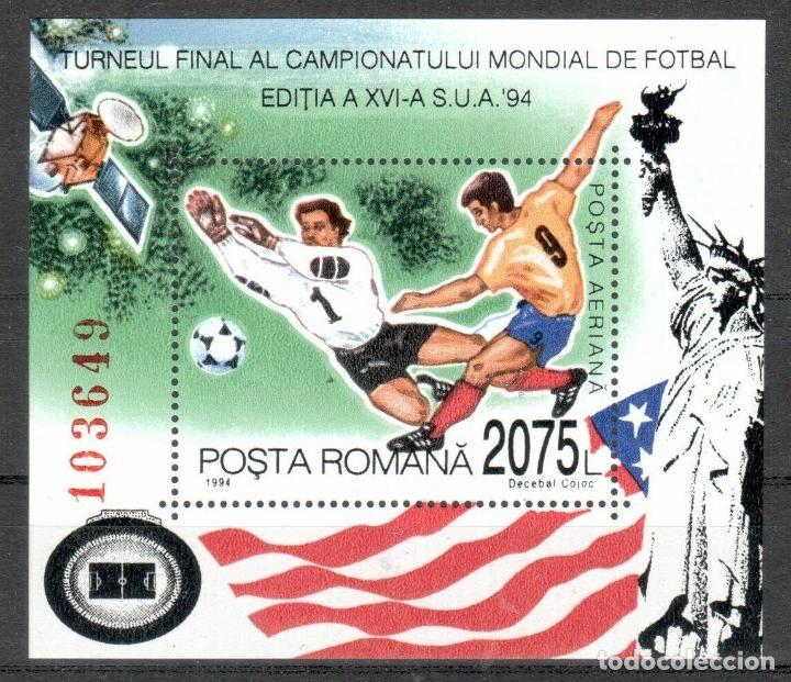 RUMANIA 1994 HB IVERT 236 *** COPA DEL MUNDO DE FUTBOL EN EEUU - DEPORTES (Sellos - Extranjero - Europa - Rumanía)
