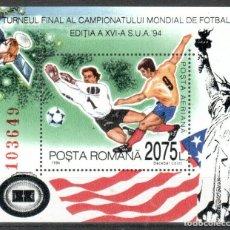 Sellos: RUMANIA 1994 HB IVERT 236 *** COPA DEL MUNDO DE FUTBOL EN EEUU - DEPORTES. Lote 193101123