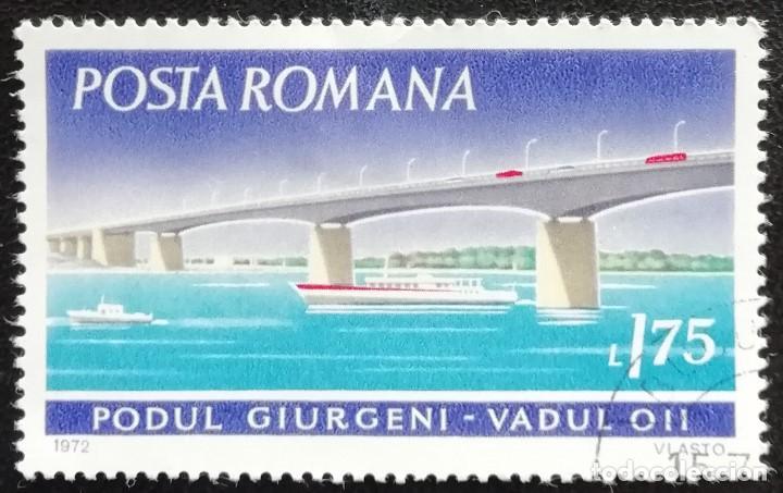 1972. RUMANÍA. 2095. PUENTE GIURGENI EN VADUL OII. USADO. (Sellos - Extranjero - Europa - Rumanía)