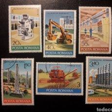 Selos: RUMANÍA. YVERT 3115/20 SERIE COMPLETA USADA. INDUSTRIAS. AGRICULTURA. PETROQUÍMICA. Lote 197132626