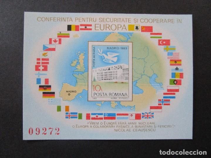 SELLOS DE EUROPA RUMANIA.1983 BLOCK 196 -1980 BLOCK 175-Y 1983 BLOCK** (Sellos - Extranjero - Europa - Rumanía)