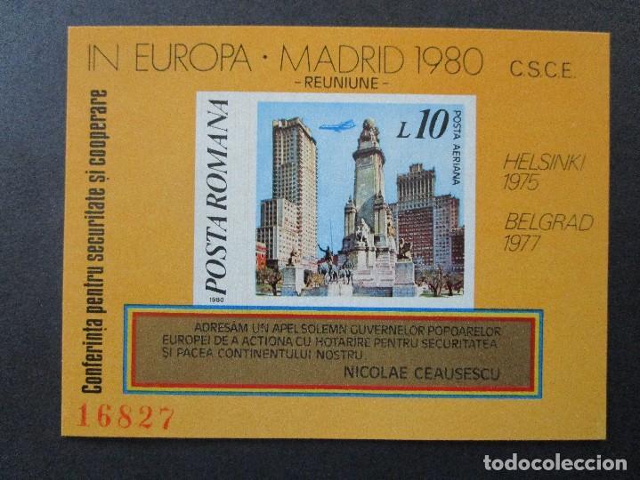 Sellos: SELLOS DE EUROPA RUMANIA.1983 BLOCK 196 -1980 BLOCK 175-y 1983 block** - Foto 2 - 199766965