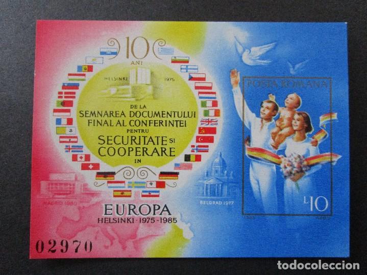 SELLOS DE EUROPA RUMANIA 1985 BLOCK 215 Y 1981 BLOCK 183** (Sellos - Extranjero - Europa - Rumanía)