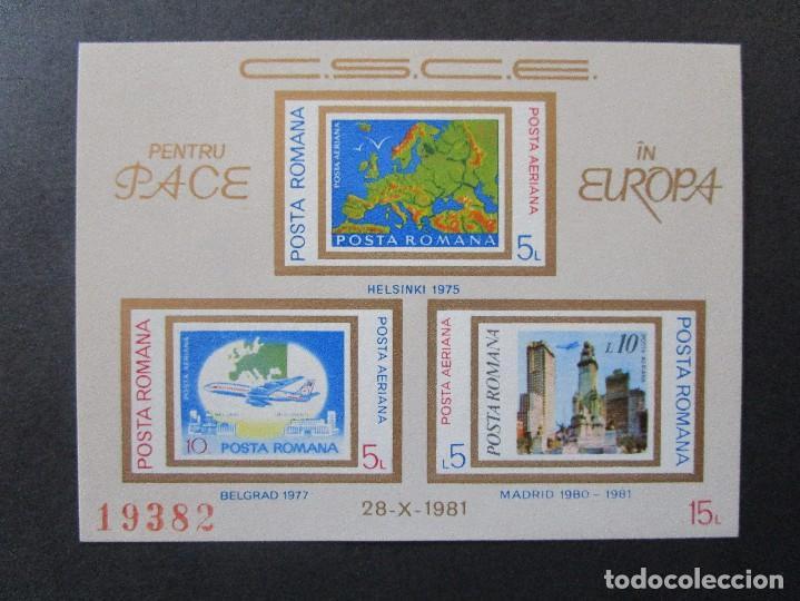 Sellos: SELLOS DE EUROPA RUMANIA 1985 BLOCK 215 Y 1981 BLOCK 183** - Foto 2 - 199767380