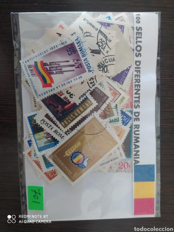 LOTE DE 100 SELLOS DIFERENTES DE RUMANÍA (Sellos - Extranjero - Europa - Rumanía)