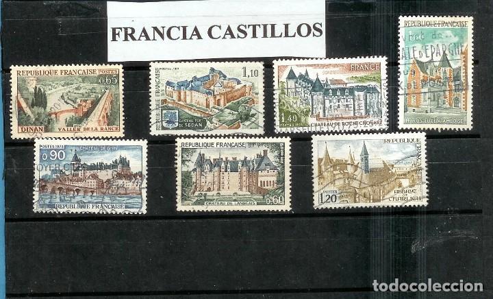 LOTE DE SELLOS DE FRANCIA. SERIE CASTILLOS (Sellos - Extranjero - Europa - Rumanía)