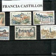 Sellos: LOTE DE SELLOS DE FRANCIA. SERIE CASTILLOS. Lote 204680376