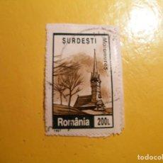 Sellos: RUMANIA 1997 - IGLESIA DE MADERA EN MARAMURES, TRANSILVANIA.. Lote 206417783