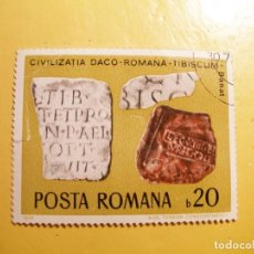 Sellos: RUMANIA 1970 - MOSAICOS - CIVILIZACION DACO-ROMANA-TIBISCUM - BANAT.. Lote 206423657