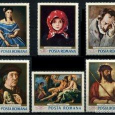 Sellos: RUMANIA 1968 - CUADROS DE LOS MUSEOS DE BUCAREST - YVERT Nº 2371/2376**. Lote 206570086