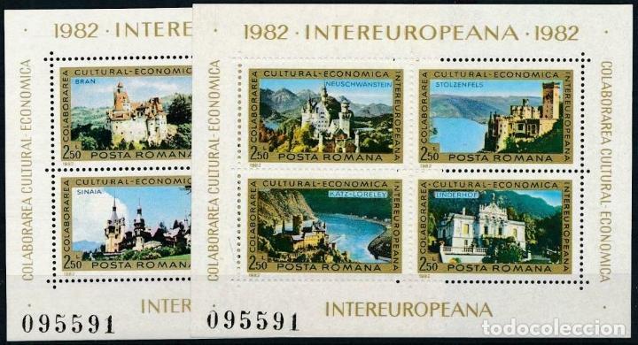 RUMANIA 1982 HB IVERT 153/4 * COLABORACIÓN ECONÓMICA Y CULTURAL INTEREUROPEA - CASTILLOS (Sellos - Extranjero - Europa - Rumanía)