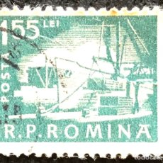 Sellos: SELLO RUMANIA 155 LEÍ. 1961.. Lote 207856541