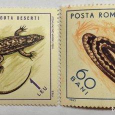 Sellos: LOTE 2 SELLÓ RUMANIA 1965. Lote 207876957