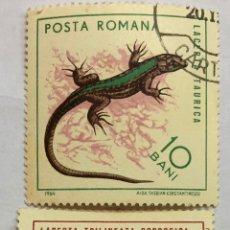 Sellos: 2 SELLÓ RUMANIA 1964.. Lote 207877365