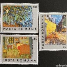 Sellos: RUMANIA, PINTURAS DE VAN GOGH 1990 MNH (FOTOGRAFÍA REAL). Lote 208282380