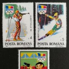 Sellos: RUMANIA, ALBERTVILLE Y BARCELONA 92' MNH (FOTOGRAFÍA REAL). Lote 208283316