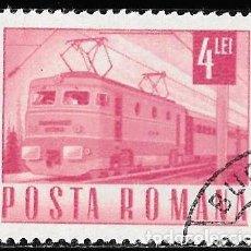 Sellos: RUMANIA 1967. TRANSPORTE Y COMUNICACIÓN. LOCOMOTORA. TRENES. Lote 209771758