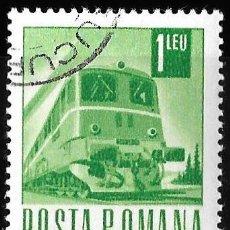 Sellos: RUMANIA 1967. TRANSPORTE Y COMUNICACIÓN. LOCOMOTORA. TRENES. USADO. Lote 209771875